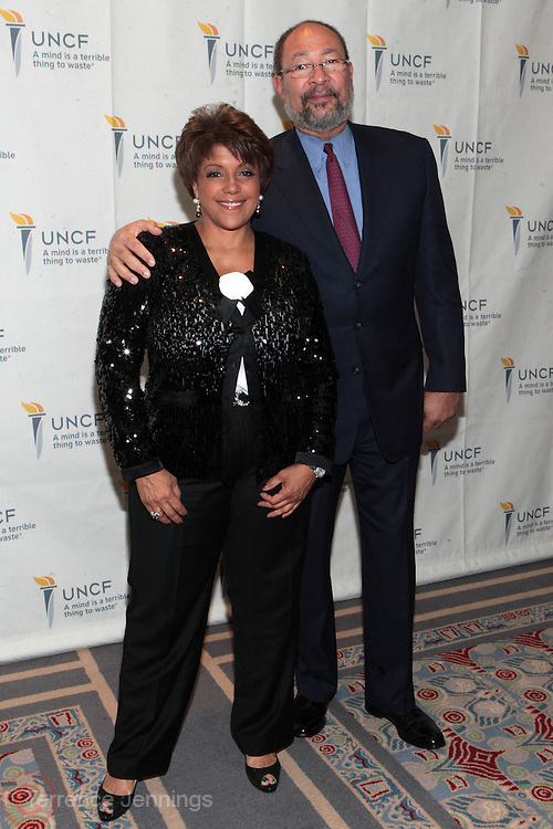 3 March 2011- New York, NY-  l to r: Linda Johnson Rice and Richard Parsons at the UNCF ' A Mind is'  Gala held at the Marriott Marquis Hotel on March 3, 2011 in New York City. Photo Credit: Terrence Jennings