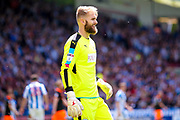 Huddersfield Town goalkeeper Joel Coleman (13)  during the EFL Sky Bet Championship play off first leg match between Huddersfield Town and Sheffield Wednesday at the John Smiths Stadium, Huddersfield, England on 14 May 2017. Photo by Simon Davies.