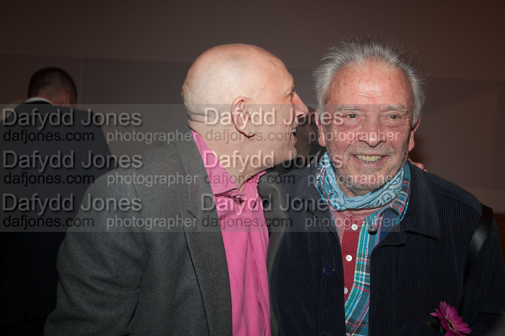 BRIAN CLARK; DAVID BAILEY, Opening of Bailey's Stardust - Exhibition - National Portrait Gallery London. 3 February 2014