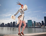 04:04:2010.. Miss Scotland, Katharine Brown in a Dressed to Kilt fashion special shot in New York city..Styled by Janis Sue Smith.. Shot at Gantry Park, Queens on Long Island....Pic:Andy Barr.07974 923919  (mobile).andy_snap@mac.com.All pictures copyright Andrew Barr Photography. .Please contact before any syndication. .