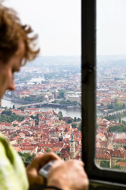 Prague from the Pet?ín Lookout Tower (Pet?ínská rozhledna). Different views from Prague (Praha), the capital of the Czech Republic.  o (Photo: Alan Aubry)