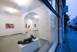 Exterior of Galerie Berlin,  art gallery on Auguststrasse a street with many art galleries in Mitte Berlin Germany