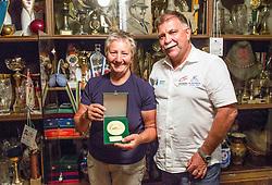 Portrait of Slovenian bowler Marika Kardinar - Nagy and her husband Marjan Kardinar in their house in Dobrovnik in Slovenia, on June 15, 2018. Photo by Vid Ponikvar / Sportida