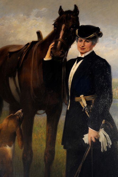 France,Languedoc Roussillon, Gard (30), Uzège, Uzès, musée d'Uzès, portrait de la Duchesse d'Uzès, tableau peint en 1913 par Weiss