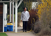 Football - England Training<br /> Fabio Capello, Manager of England walks out onto the training pitch at London Colney, UK