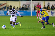 Forest Green Rovers Drissa Traoré(4) runs forward during the Vanarama National League match between Solihull Moors and Forest Green Rovers at the Automated Technology Group Stadium, Solihull, United Kingdom on 25 October 2016. Photo by Shane Healey.
