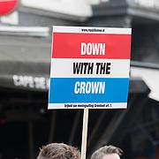 NLD/Tilburg/20170427- Koningsdag 2017, protest tegen de monarchie