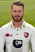 Adam Rouse of Kent during the Kent County Cricket Club Headshots 2017 Press Day at the Spitfire Ground, Canterbury, United Kingdom on 31 March 2017. Photo by Martin Cole.