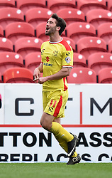 Milton Keynes Dons' Will Grigg celebrates his goal - Photo mandatory by-line: Paul Knight/JMP - Mobile: 07966 386802 - 04/04/2015 - SPORT - Football - Swindon - The County Ground - Swindon Town v Milton Keynes Dons - Sky Bet League One