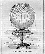 Flying machines (balloons etc) from Harper's Weekly, July 25, 1857