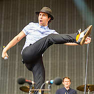09-07-2016<br /> T in the Park 2016 - Sunday<br />  <br /> Maximo Park on the Radio 1 stage. Lead singer Paul Smith.<br /> <br /> Pic:Andy Barr<br /> <br /> www.andybarr.com<br /> <br /> Copyright Andrew Barr Photography.<br /> No reuse without permission.<br /> andybarr@mac.com<br /> +44 7974923919