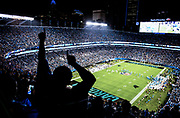 October 17, 2017: Carolina Panthers vs the Philadelphia Eagles. Panthers fan celebrates