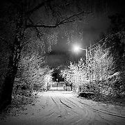 Gate in evening at Odderøya Kristiansand.