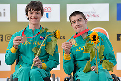 06/08/2017; Podium at 2017 World Para Athletics Junior Championships, Nottwil, Switzerland