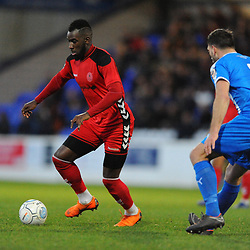 TELFORD COPYRIGHT MIKE SHERIDAN 22/12/2018 - Amari Morgan-Smith of AFC Telford during the Vanarama Conference North fixture between Chester FC and AFC Telford United at the Swansway Deva Stadium, Chester.