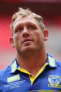 Ben Westwood of Warrington Wolves during the Warrington Wolves Captains Run ahead of the Ladbrokes Challenge Cup Final at Wembley Stadium, London<br /> Picture by Stephen Gaunt/Focus Images Ltd +447904 833202<br /> 24/08/2018