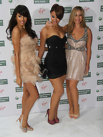 Jade Ewen, Amelle Berrabah and Heidi Range of Sugababes World Tennis Association Pre-Wimbledon Party held at the Roof Gardens, Kensington, London, UK, 17 June 2010. For piQtured Sales contact: Ian@piqtured.com Tel: +44(0)791 626 2580 (Picture by Richard Goldschmidt/Piqtured)