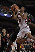 Dec 19, 2017; Los Angeles, CA, USA; Southern California Trojans guard Jordan McLaughlin (11) shoots the ball against the Princeton Tigers during an NCAA basketball game at Galen Center. Princeton defeated USC 103-93 in overtime.