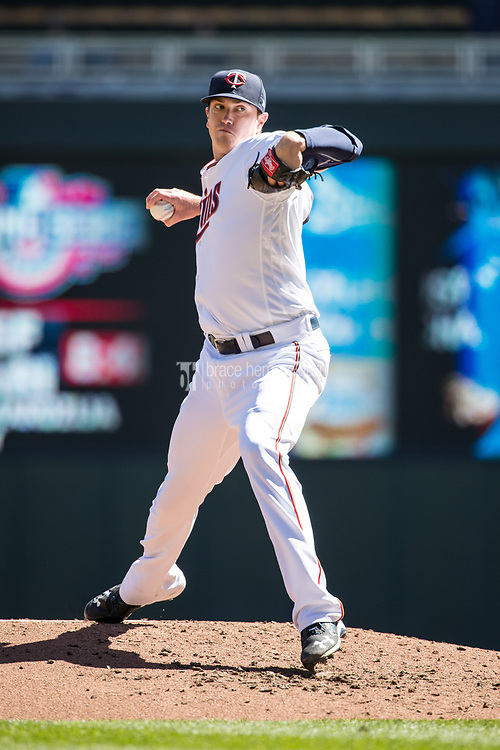 MINNEAPOLIS, MN- APRIL 6: Kyle Gibson #44 of the Minnesota Twins pitches against the Kansas City Royals on April 6, 2017 at Target Field in Minneapolis, Minnesota. The Twins defeated the Royals 5-3. (Photo by Brace Hemmelgarn) *** Local Caption *** Kyle Gibson