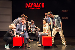 © Licensed to London News Pictures. 13/06/2013. PAYBACK:The Musical, at Riverside Studios, Hammersmith, London. Starring Olivier Award winner Matthew White. Written by Paul Rayfield. Directed and Developed by Simon Greiff. Photo credit: Tony Nandi/LNP