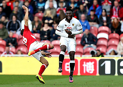 Christian Stuani of Middlesbrough kicks Isaac Success of Watford in the stomach - Mandatory by-line: Robbie Stephenson/JMP - 16/10/2016 - FOOTBALL - Riverside Stadium - Middlesbrough, England - Middlesbrough v Watford - Premier League