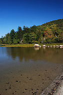 This is a beautiful clear calm lake in Acadia National Park in Maine.
