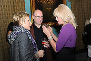 JENNIFER SAUNDERS; ADRIAN EDMONSON; JOANNA LUMLEY;, Party following the Theatre Royal press night performance of The Lion in Winter , The Institute of Directors. London. 15 November 2011. <br /> <br />  , -DO NOT ARCHIVE-© Copyright Photograph by Dafydd Jones. 248 Clapham Rd. London SW9 0PZ. Tel 0207 820 0771. www.dafjones.com.