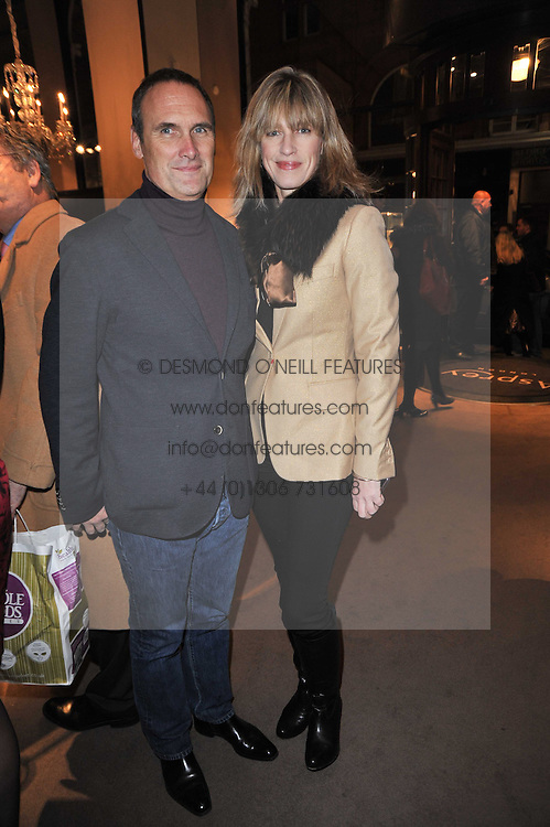 AA GILL and NICOLA FORMBY at a party to celebrate the launch of Simon Sebag-Montefiore's new book - 'Jerusalem: The Biography' held at Asprey, 167 New Bond Street, London on 26th January 2011.