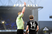 Leeds United midfielder Eunan O'Kane (14) shown a red card, sent off during the EFL Sky Bet Championship match between Ipswich Town and Leeds United at Portman Road, Ipswich, England on 13 January 2018. Photo by Dennis Goodwin.