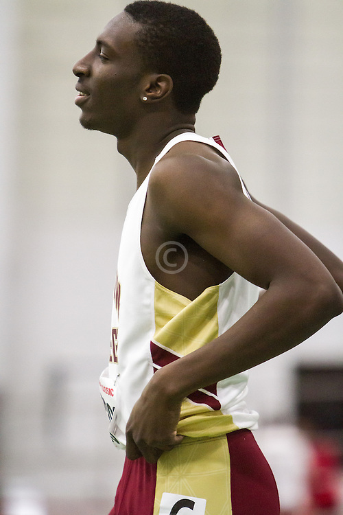 Boston University Multi-team indoor track & field, men 60 meter hurdles, prelim, heat 1, Boston College 2368