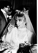 Alexandra Nalder at her marriage to Prince Obelensky. 32 Chesham Place 9/9 1982. © Copyright Photograph by Dafydd Jones 66 Stockwell Park Rd. London SW9 0DA Tel 020 7733 0108 www.dafjones.com