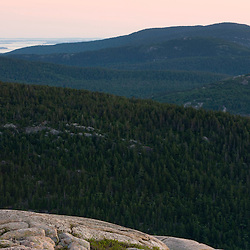 The view from Bald Mountain in Maine USA