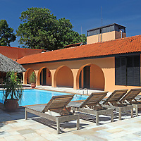 South America, Brazil, Pantanal. Sede Lodge, the main house or Casa Grande of the Caiman Ecological Reserve.
