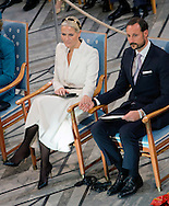 Oslo, 10-12-2015<br /> <br /> <br /> King Harald and Queen Sonja , Crown Prince Haakon and Crown Princess Mette -Marit attends  Nobel Peace Prize Ceremony 2015<br /> Royalportraits Europe/ Bernard Ruebsamen