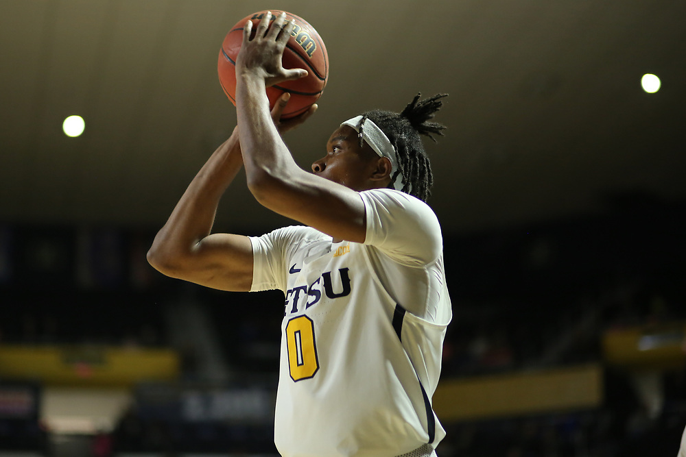 December 28, 2017 - Johnson City, Tennessee - Freedom Hall: ETSU guard Kanayo Obi-Rapu (0)<br /> <br /> Image Credit: Dakota Hamilton/ETSU