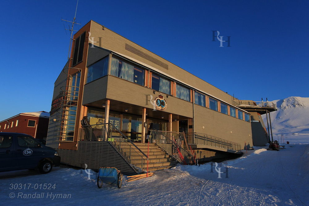 Norwegian Polar Institute has the largest research station at the international science village of Ny-Alesund on Spitsbergen island in Kongsfjorden; Svalbard, Norway.