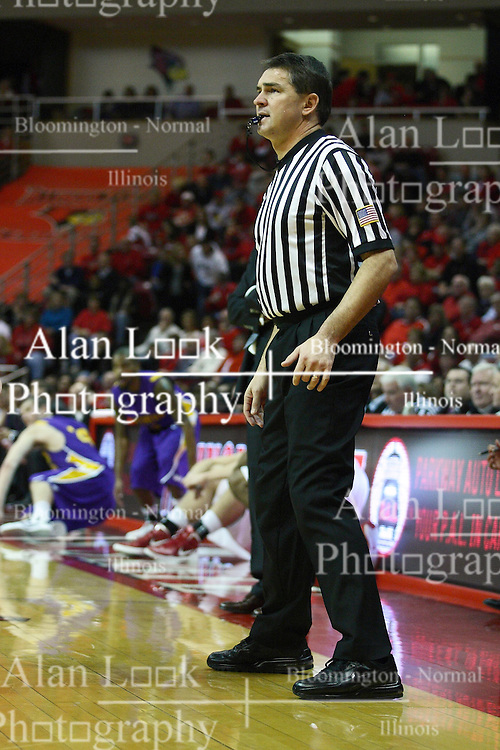 29 December 2011:  Referee Paul Janssen during an NCAA mens basketball game between the Northern Illinois Panthers and the Illinois State Redbirds in Redbird Arena, Normal IL