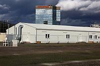 Ludwigshafen. 09.03.17 | BILD- ID 022 |<br /> Messplatz. Seit Oktober 2015 wurden hier Fl&uuml;chtlinge in Notunterk&uuml;nften untergebracht. In Winterfesten Zelten wurden den meist m&auml;nnlichen Fl&uuml;chtlingen eine Unterkunft geboten. <br /> Mittlerweile wurden zwei Zelte und mehrere Container abgebaut.<br /> Bild: Markus Pro&szlig;witz 09MAR17 / masterpress (No Modelrelease!)