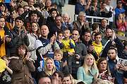 Oxford United fans and supporters during the Sky Bet League 2 match between Oxford United and AFC Wimbledon at the Kassam Stadium, Oxford, England on 10 October 2015.