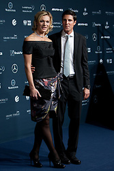 14.11.2011, Hotel Grand Tirolia, Kitzbuehel, AUT, Verleihung Laureus Medienpreis 2011, Roter Teppich im Bild Maria Höfl Riesch mit Ehemann Markus Höfl // at the red carpet of the Laureus Media Award 2011 at the Grand Hotel Tirolia in Kitzbuehel, Austria on 14/11/2011. EXPA Pictures © 2011, PhotoCredit: EXPA/ Johann Groder