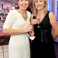 -FREE PICTURE / NO REPRODUCTION FEE-.Pictured at the annual Black and White Ball in the Blue Haven Hotel, Kinsale were Noreen Murphy, Bantry and Denise Stockley, Dunmanway..Pic. John Allen