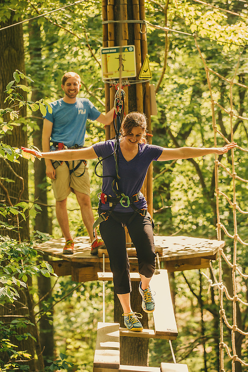 Go Ape high rope and zip line course in Delware.