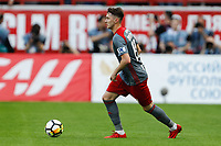 MOSCOW, RUSSIA - MAY 05: Anton Miranchuk of FC Lokomotiv Moscow in action during the Russian Football League match between FC Lokomotiv Moscow and FC Zenit Saint Petersburg at RZD Arena on May 5, 2018 in Moscow, Russia.