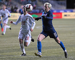 February 28, 2019 - Chester, United States - Megan Rapinoe  of The United States.during the She Believes Cup football match between The United States and Japan at Talen Energy Stadium on February 27, 2019 in Chester, Pennsylvania, United States. (Credit Image: © Action Foto Sport/NurPhoto via ZUMA Press)