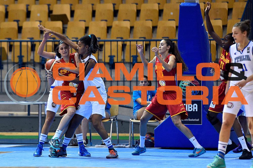DESCRIZIONE : Celje U20 Campionato Europeo Femminile Semifinale Italia Spagna European Championship Women Semifinal Italy Spain <br /> GIOCATORE : Jasmine Keys<br /> CATEGORIA : difesa controcampo raddoppio<br /> SQUADRA : Italia Italy<br /> EVENTO : Celje U20 Campionato Europeo Femminile Semifinale Italia Spagna European Championship Women Semifinal Italy Spain<br /> GARA : Italia Spagna Italy Spain<br /> DATA : 08/08/2015<br /> SPORT : Pallacanestro <br /> AUTORE : Agenzia Ciamillo-Castoria/Max.Ceretti<br /> Galleria : Europeo Under 20 Femminile <br /> Fotonotizia : Celje U20 Campionato Europeo Femminile Semifinale Italia Spagna European Championship Women Semifinal Italy Spain<br /> Predefinita :