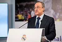Florentino Perez during the tribute to Cristiano Ronaldo by Real Madrid CF on the occasion of his new record by being the top scorer in the club's history at Santiago Bernabeu Stadium in Madrid, October 02, 2015.<br /> (ALTERPHOTOS/BorjaB.Hojas)
