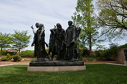 Washington DC: Metal sculpture on the Mall at Hirshhorn sculpture garden. Burghers of Calais by Rodin. Photo copyright Lee Foster.  Photo # washdc102717