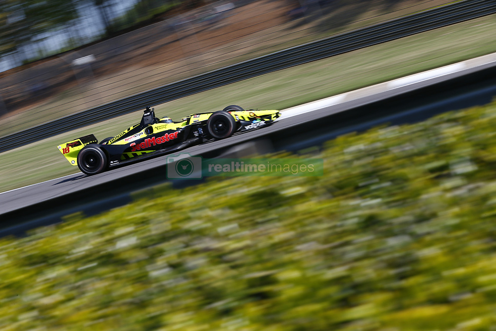 April 20, 2018 - Birmingham, Alabama, United States of America - April 20, 2018 - Birmingham, Alabama, USA: SEBASTIEN BOURDAIS (18) of France takes to the track to practice for the Honda Grand Prix of Alabama at Barber Motorsports Park in Birmingham, Alabama. (Credit Image: © Justin R. Noe Asp Inc/ASP via ZUMA Wire)