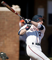 Virginia Cavaliers pitcher/firstbaseman Sean Doolittle (21) in an at bat against Delaware.  The Virginia Cavaliers Baseball Team defeated the Delaware Blue Hens 10-4  in the second of a three game series at Davenport Field in Charlottesville, VA on March 3, 2007.  Virginia leads the series 2 games to 0.