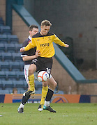 Livingston's Iain Russell and Dundee's Craig McKeown - Dundee v Livingston, IRN BRU Scottish Football League, First Division at Dens Park - ..© David Young - .5 Foundry Place - .Monifieth - .Angus - .DD5 4BB - .Tel: 07765 252616 - .email: davidyoungphoto@gmail.com.web: www.davidyoungphoto.co.uk
